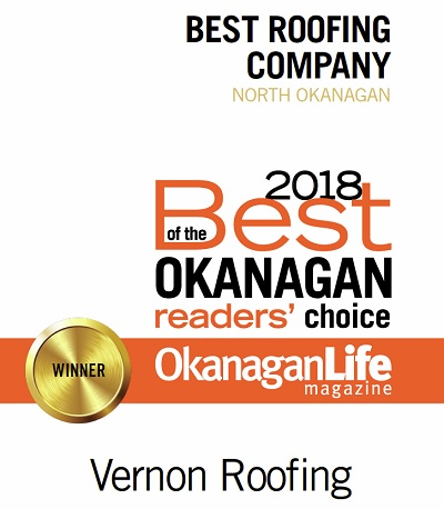 Best Roofing Company - North Okanagan - 2018